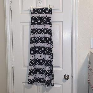 Black and white Maxi skirt